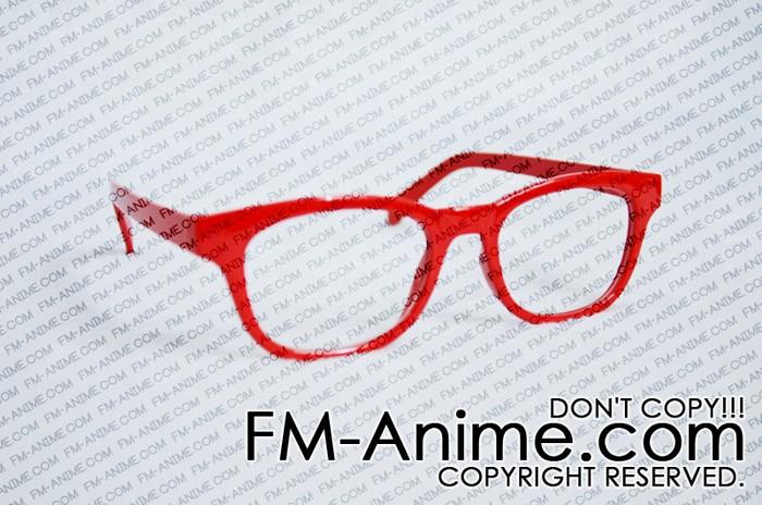 Beyond the Boundary Mirai Kuriyama / Red Semicircle Frame Clear Lens ...