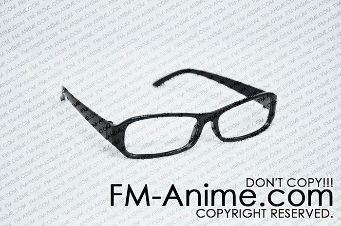 Black Frame Clear Lens Glasses Cosplay - Glasses - Accessories - Cosplay