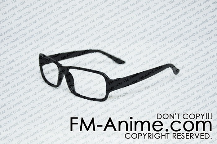 Black Frosted Square Frame Glasses Cosplay (Without Lenses ...