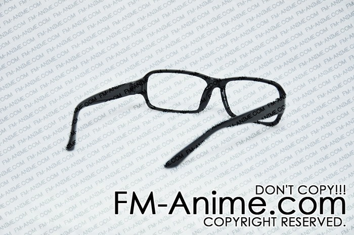 Black Square Frame Glasses Cosplay (Without Lenses) - Glasses ...