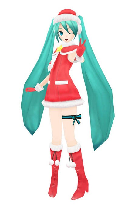 Christmas Hatsune Miku.Vocaloid Hatsune Miku Project Diva 2nd Christmas Modules