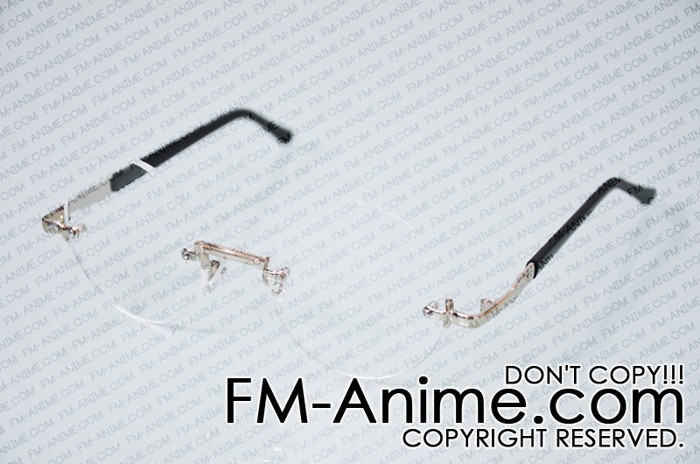 93b2649268 Circular Clear Lens No Frame Glasses Cosplay