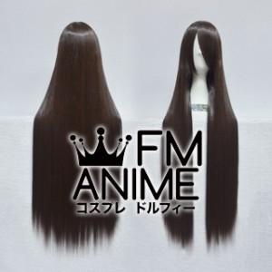 100cm Medium Length Straight Black Mixed Brown Cosplay Wig