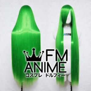 100cm Medium Length Straight Leaf Green Cosplay Wig