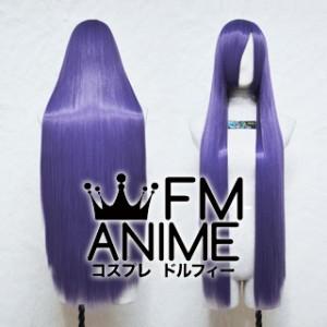 100cm Medium Length Straight Xereus Purple Cosplay Wig