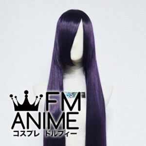 150cm Long Straight Purple Mixed Black Cosplay Wig