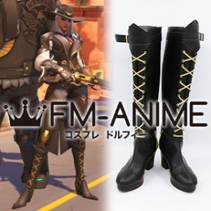 Overwatch Ashe Cosplay Shoes Boots