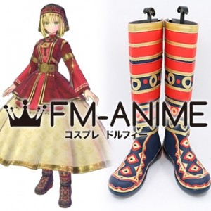 Fate/Extella Link Saber Nero Claudius: Emperor National Outfit Cosplay Shoes Boots