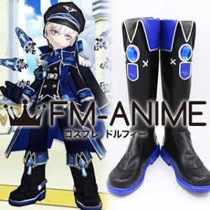 Elsword Add Hamel Navy Officer Cosplay Shoes Boots