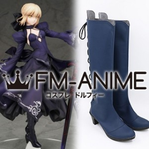 Fate/Grand Order Saber Alter Blue Dress ver Cosplay Shoes Boots