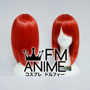 45cm Pageboy Red Cosplay Wig