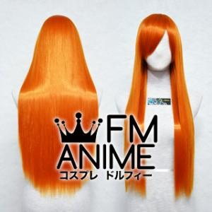 80cm Medium Length Straight Bright Orange Cosplay Wig