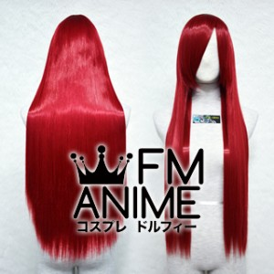 80cm Medium Length Straight Dark Red Cosplay Wig