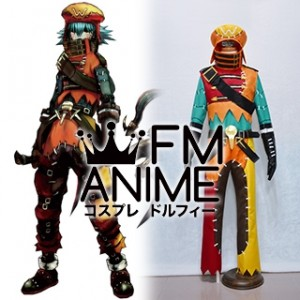 .Hack//G.U. Last Recode Tri-Edge Azure Flame Kite Cosplay Costume