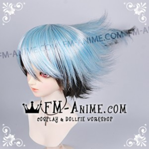 Nura: Rise of the Yokai Clan Rikuo Nura Light Alice Blue & Black Cosplay BJD Dolls Wig