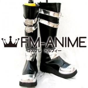 D.Gray-man Yu Kanda Cosplay Shoes Boots (Sliver & Black)
