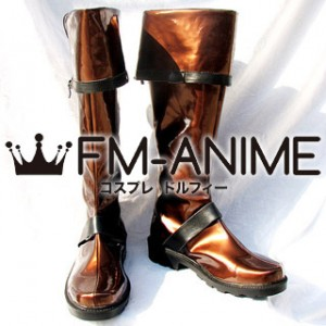 D.Gray-man Lavi Cosplay Shoes Boots (Brown & Black)