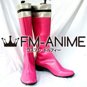 Super Sentai Cosplay Shoes Boots (Pink)