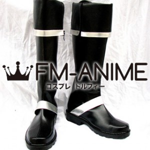 D.Gray-man Lavi Cosplay Shoes Boots (Black & Sliver)