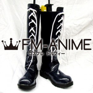 Final Fantasy X-2 Yuna Cosplay Shoes Boots (Dark Blue)