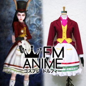 Alice: Madness Returns Alice Late But Lucky Cosplay Costume