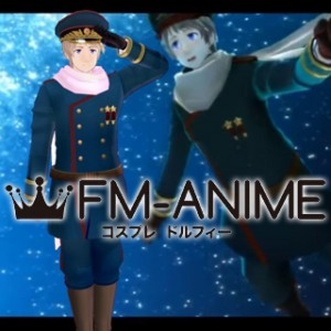 Axis Powers Hetalia Ivan Braginski Soviet Russia Blue Military Uniform Cosplay Costume