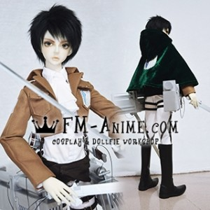 Attack on Titan Levi Eren Mikasa Corps BJD Dollfie SD DD 1/3 Cosplay Costume Outfit