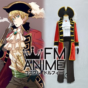 Axis Powers Hetalia Arthur Kirkland (England) Pirate Cosplay Costume