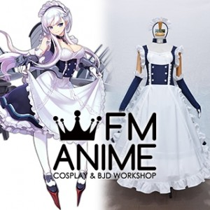 Azur Lane Belfast Maid Cosplay Costume