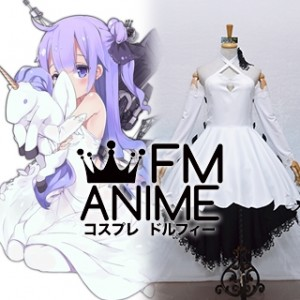 Azur Lane Unicorn Black White Dress Cosplay Costume