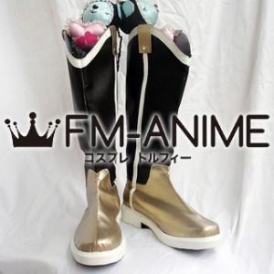 Puella Magi Madoka Magica Mami Tomoe Cosplay Shoes Boots (Gold)