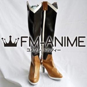 Puella Magi Madoka Magica Mami Tomoe Cosplay Shoes Boots (Light Brown)
