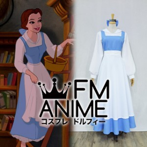 Beauty and the Beast (Disney) Belle Peasant Blue Dress Cosplay Costume