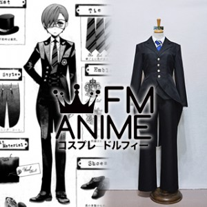 Black Butler Ciel Phantomhive Weston College School Uniform Cosplay Costume