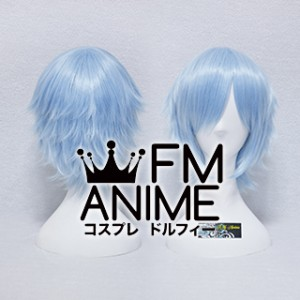 Short Layered Light Sky Blue Cosplay Wig