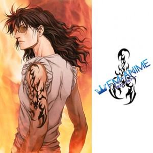Btooom! Nobutaka Oda Cosplay Tattoo Stickers