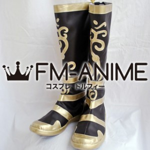 Dynasty Warriors 5 Ma Chao / Ba Chou Cosplay Shoes Boots (Dark Brown)
