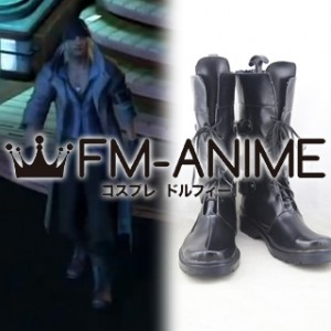 Final Fantasy XIII Snow Villiers Cosplay Shoes Boots #C871 (Black Version)