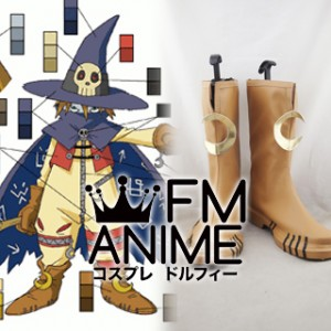 Digimon Wizardmon Cosplay Shoes Boots #C891