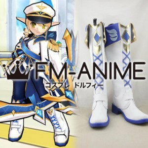Elsword Rena Hamel Navy Officer Cosplay Shoes Boots