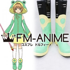 Cardcaptor Sakura: Clear Card Sakura Kinomoto Ep 03 Frog Raincoat Cosplay Shoes Boots