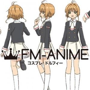 Cardcaptor Sakura: Clear Card Sakura Tomoyo Female Uniform Cosplay Costume