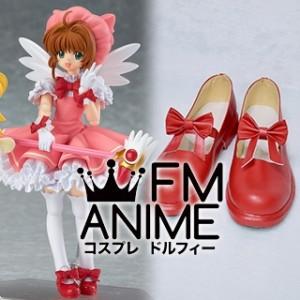Cardcaptor Sakura Sakura Kinomoto Red Cosplay Shoes (OP1)
