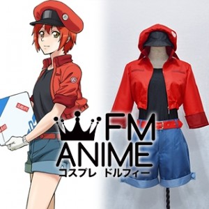 Cells at Work! Red Blood Cell AE3803 Erythrocyte Cosplay Costume (Female M)
