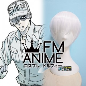Cells at Work! White Blood Cell U-1146 Neutrophil Cosplay Wig