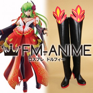 Code Geass Ichiban Kuji Code Black in Ashford 1st Live Encore C.C. Cosplay Shoes Boots
