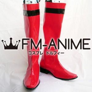 Super Sentai Series Samurai Sentai Shinkenger Takeru Shiba / Shinken Red Cosplay Shoes Boots
