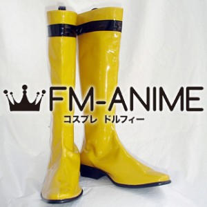 Super Sentai Series Samurai Sentai Shinkenger Kotoha Hanaori / Shinken Yellow Cosplay Shoes Boots