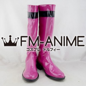 Super Sentai Series Samurai Sentai Shinkenger Mako Shiraishi / Shinken Pink Cosplay Shoes Boots