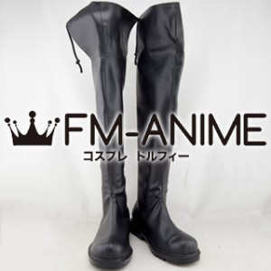 Attack on Titan Corps Military Uniform Cosplay Shoes Boots (Black)